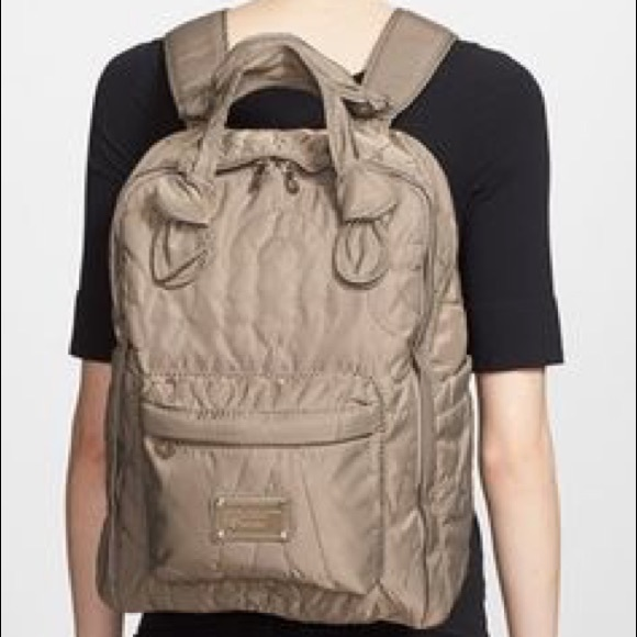 27798b39d996 marc jacobs pretty nylon knapsack backpack cement.  M 5a4f29945521bed73f017bf6